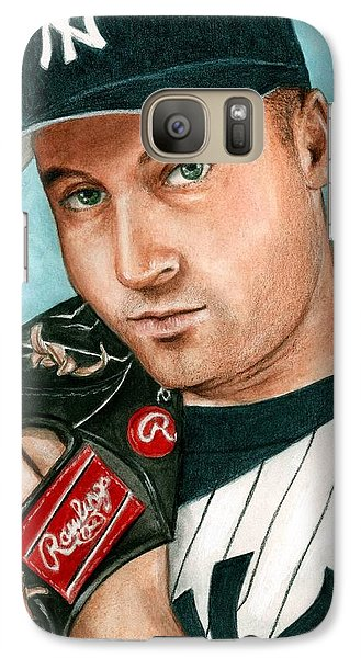 Derek Jeter  Galaxy Case by Bruce Lennon