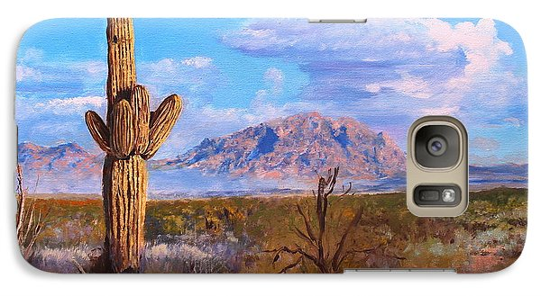 Galaxy Case featuring the painting Desert Scene 4 by M Diane Bonaparte