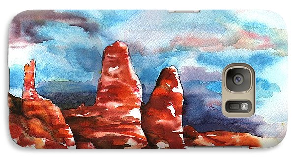 Galaxy Case featuring the painting Desert Sentries by Sharon Mick