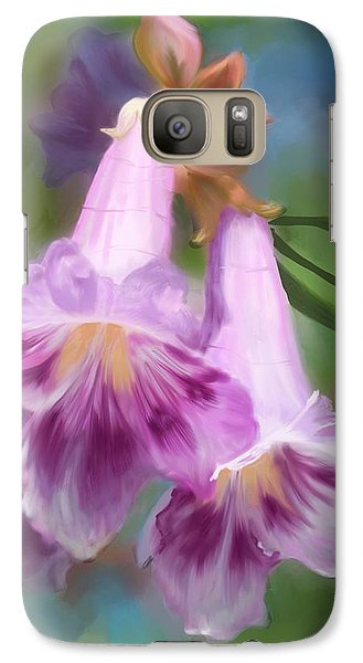 Galaxy Case featuring the painting Desert Willow Floral Wall Art by Judy Filarecki