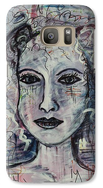 Galaxy Case featuring the painting Destiny by Sladjana Lazarevic