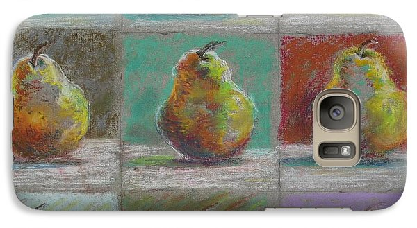 Galaxy Case featuring the pastel  Pears by Bonnie Goedecke