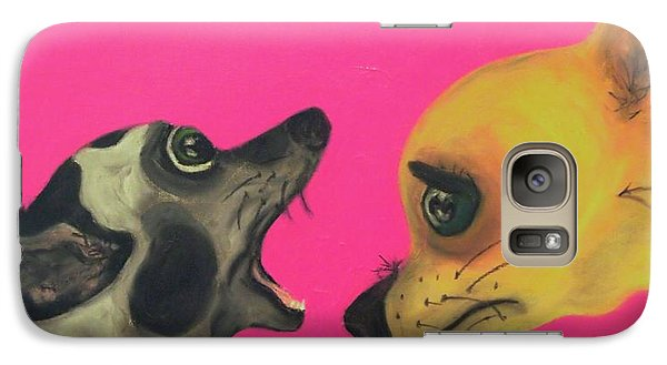 Galaxy Case featuring the painting Did I Swallow A Bug by Laura  Grisham