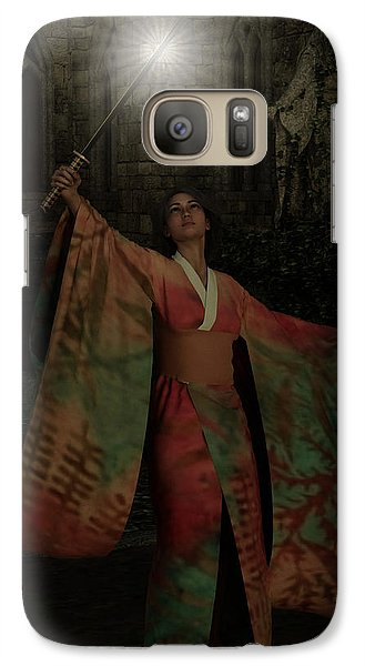 Galaxy Case featuring the painting Divine Light by Maynard Ellis