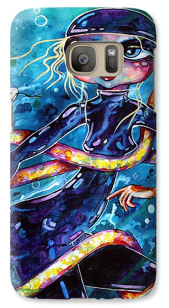 Galaxy Case featuring the painting Diving With Serpent by Leanne Wilkes