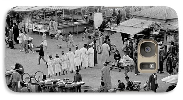 Galaxy Case featuring the photograph Djemaa El Fna Marrakech Morocco by Tom Wurl