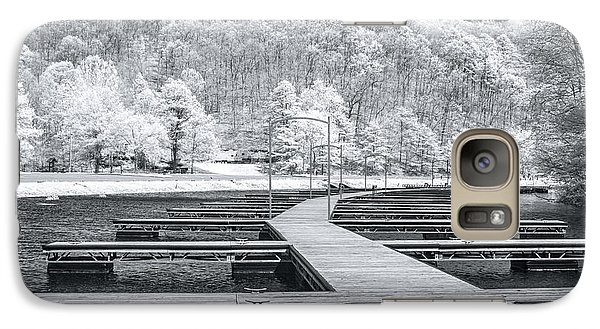 Galaxy Case featuring the photograph Dock In Infrared by Mary Almond