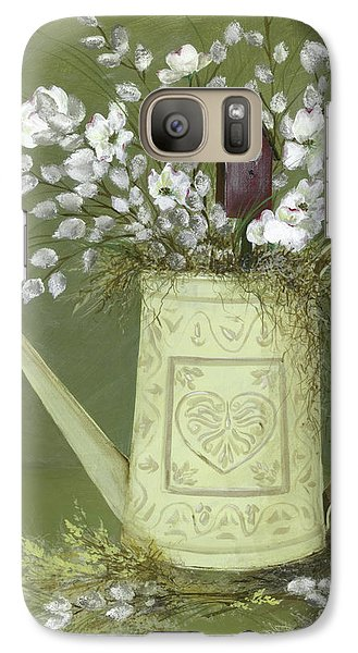 Galaxy Case featuring the painting Dogwood Cuttings  by Nancy Patterson
