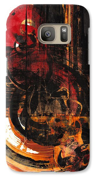 Galaxy Case featuring the painting Don't Worry Be Happy  120.122210 by Kris Haas