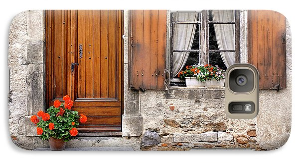 Galaxy Case featuring the photograph Doorway And Window In Provence France by Dave Mills