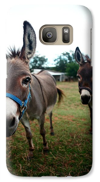 Galaxy Case featuring the photograph Doting Donkeys by Lon Casler Bixby