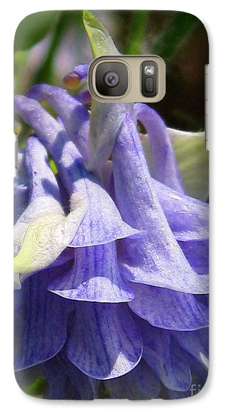 Galaxy Case featuring the photograph Double Columbine Named Light Blue by J McCombie
