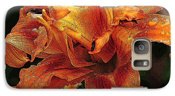 Galaxy Case featuring the photograph Double Lily by Michael Friedman