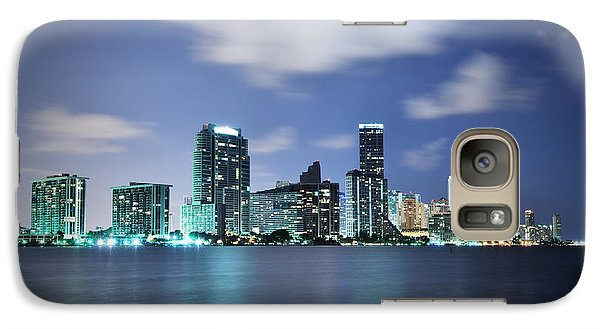 Galaxy Case featuring the photograph Downtown Miami At Night by Carsten Reisinger