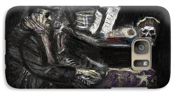 Galaxy Case featuring the drawing Dr. John In Charcoal And Pastel by Denny Morreale
