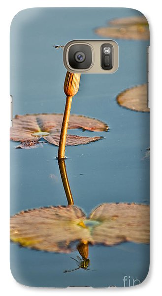 Galaxy Case featuring the photograph Dragonfly And Lotus by Luciano Mortula
