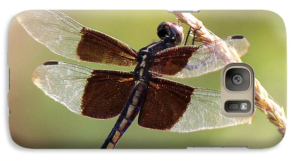 Galaxy Case featuring the photograph Dragonfly Closeup by Kathy  White