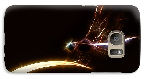 Galaxy Case featuring the digital art Dragonfly On Golden Blade by Lynne Jenkins