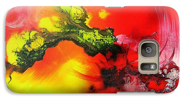 Galaxy Case featuring the painting Dragon's Fire by Mary Kay Holladay