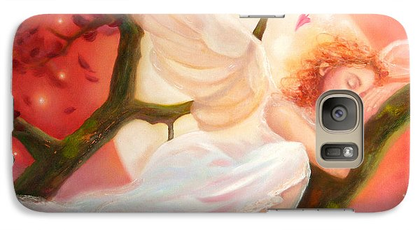 Galaxy Case featuring the painting Dreams Of Strawberry Moon by Michael Rock