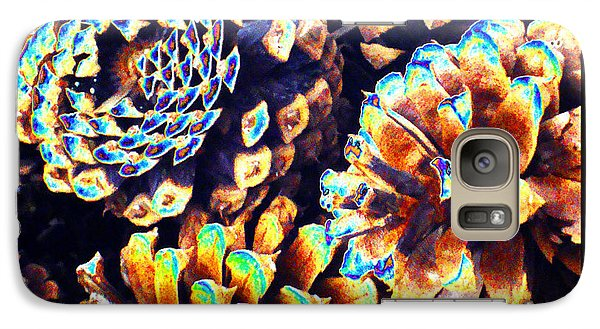 Galaxy Case featuring the photograph Dreamtime Pinecones by Susanne Still