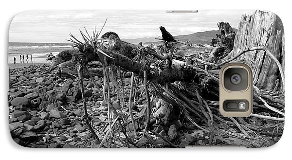 Galaxy Case featuring the photograph Driftwood And Rocks by Chriss Pagani