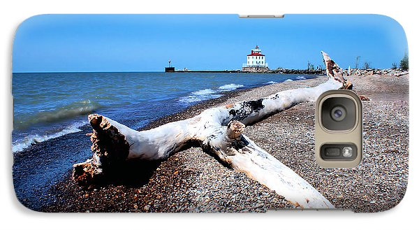 Galaxy Case featuring the photograph Driftwood At Erie by Michelle Joseph-Long