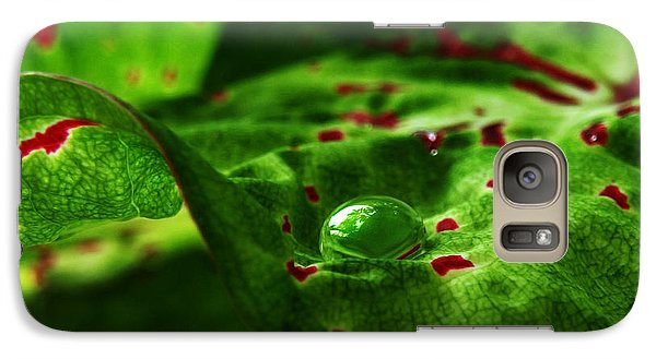 Galaxy Case featuring the photograph Droplet by Deborah Smith