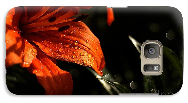 Galaxy Case featuring the photograph Droplets On Flower by Vilas Malankar