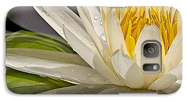 Galaxy Case featuring the photograph Droplets On The Lily by Anne Rodkin