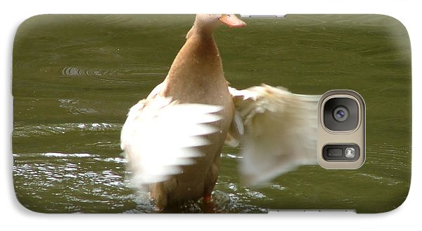 Galaxy Case featuring the photograph Duck Flapper by Wendy McKennon