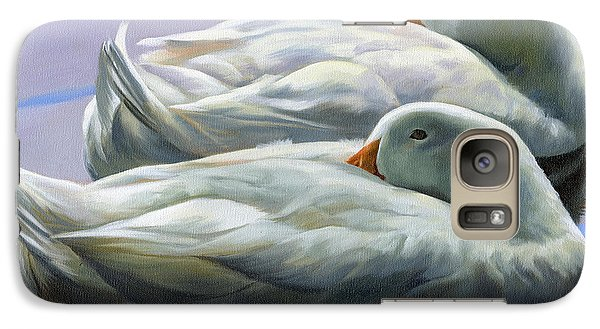 Galaxy Case featuring the painting Duck Nap by Alecia Underhill