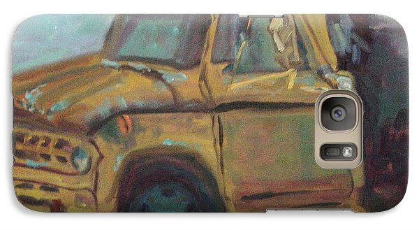 Galaxy Case featuring the painting Dump Truck by Carol Berning