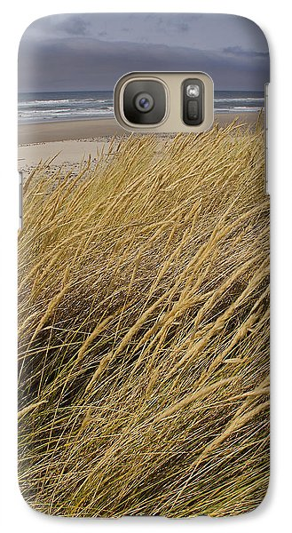 Galaxy Case featuring the photograph Dune Grass On The Oregon Coast by Mick Anderson