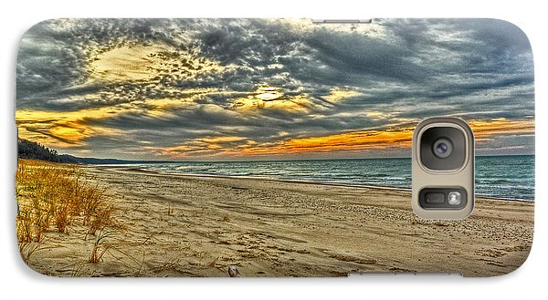 Galaxy Case featuring the photograph Dunes Sunset I by William Fields