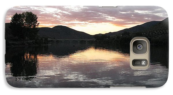 Galaxy Case featuring the photograph Dusk On The River by Arlene Carmel
