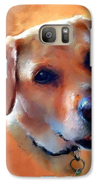 Galaxy Case featuring the painting Dusty Labrador Dog by Robert Smith