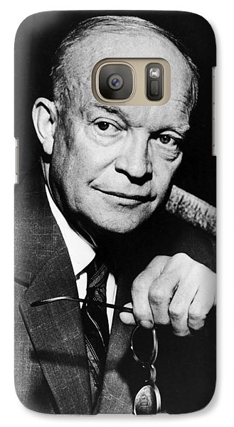 Galaxy Case featuring the photograph Dwight D Eisenhower - President Of The United States Of America by International  Images