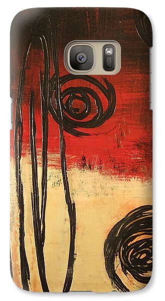 Galaxy Case featuring the painting Dynamic Red 1 by Kathy Sheeran