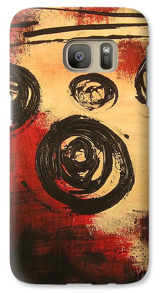 Galaxy Case featuring the painting Dynamic Red 2 by Kathy Sheeran