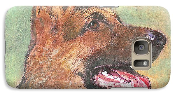 Galaxy Case featuring the painting Eager - Time For Dinner   by Richard James Digance