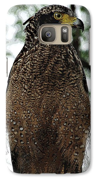 Galaxy Case featuring the photograph Eagle At Bharatpur by Pravine Chester