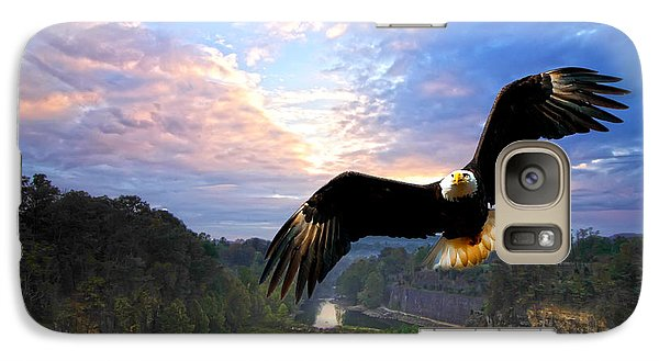 Galaxy Case featuring the photograph Eagle At Paint Creek Dam by Randall Branham