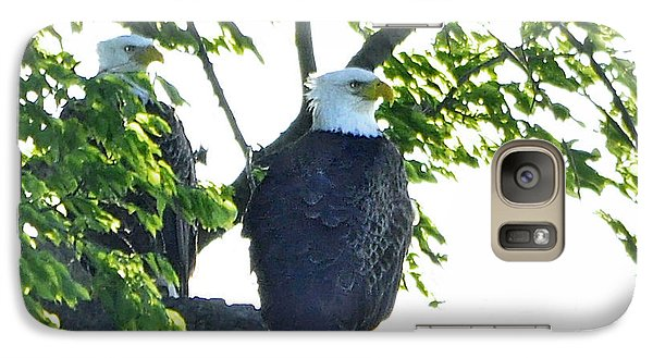 Galaxy Case featuring the photograph Eagle Court by Nava Thompson