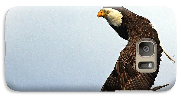 Galaxy Case featuring the photograph Eagle Flight-wing Power by Larry Nieland