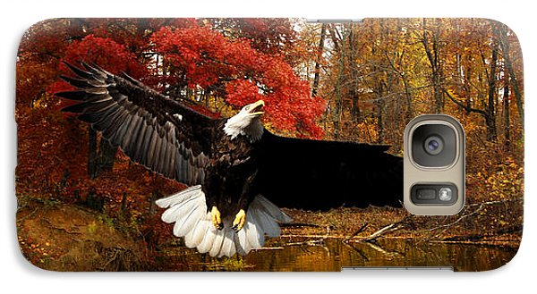 Galaxy Case featuring the photograph Eagle In Autumn Splendor by Randall Branham