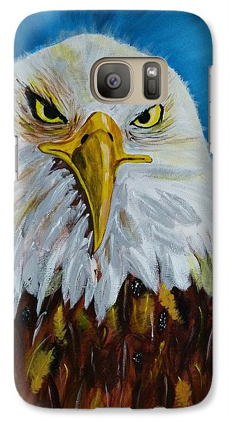 Galaxy Case featuring the painting Eagle by Ismeta Gruenwald