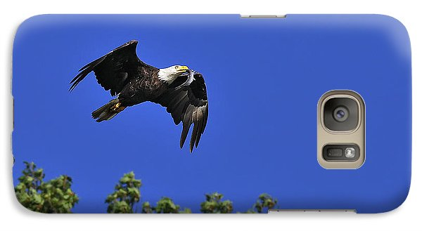 Galaxy Case featuring the photograph Eagle Over The Tree Top by Randall Branham