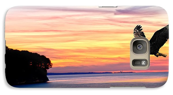Galaxy Case featuring the photograph Eagle Sunrise by Randall Branham