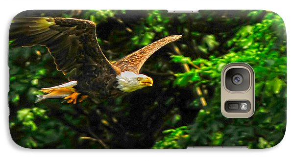Galaxy Case featuring the photograph Eagle Taking Lunch To Her Babies by Randall Branham